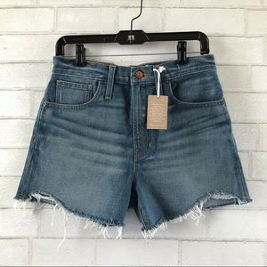 Madewell Perfect Vintage Denim Dayna Wash Shorts